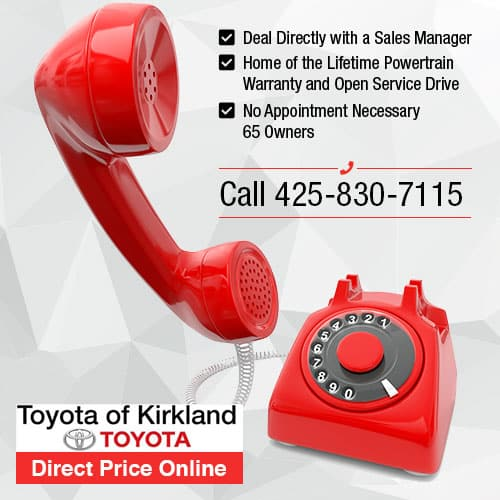 Toyota of Kirkland Direct Price Hotline