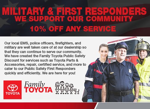 MILITARY & FIRST RESPONDERS SPECIAL