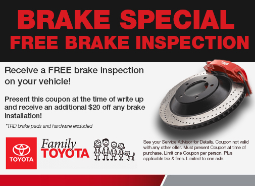 Printable Toyota Oil Change Coupons >> Service Specials Family Toyota Of Burleson