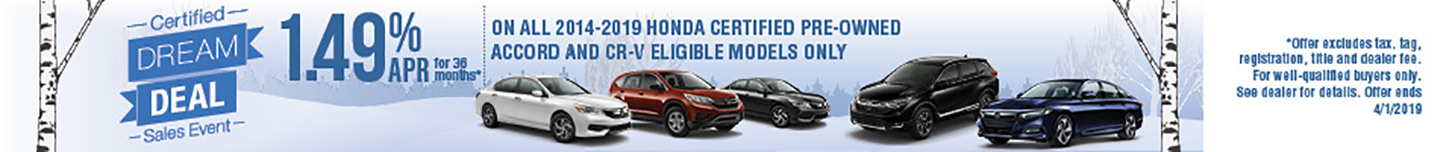 Certified Dream Deal Sales Event | Community Honda of Orland Park