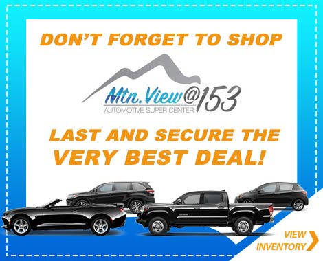 Mountain View 153 Vehicle specials Chattanooga, TN