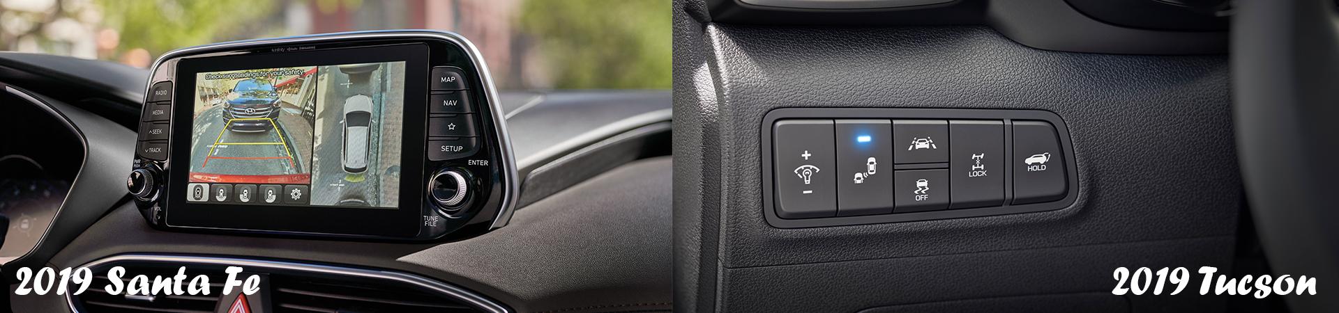 The 2019 Hyundai Santa Fe and the 2019 Hyundai Tucson