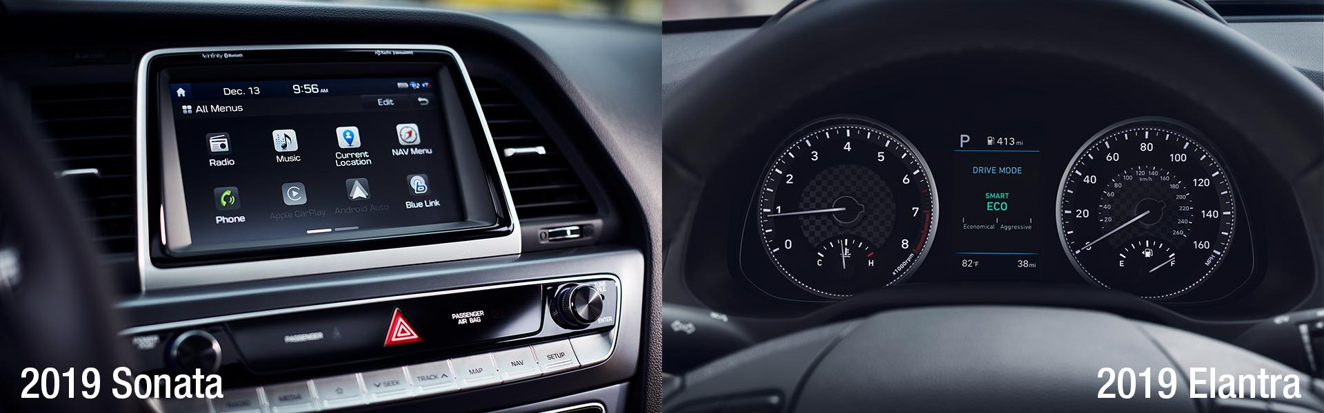 The 2019 Hyundai Sonata and the 2019 Hyundai Elantra