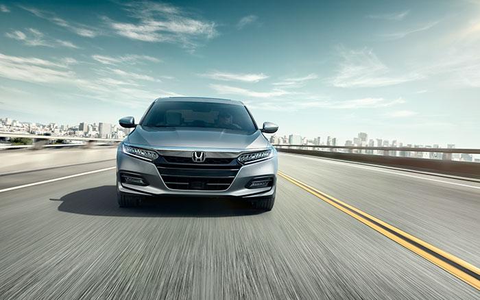Silver 2019 Honda Accord front exterior view
