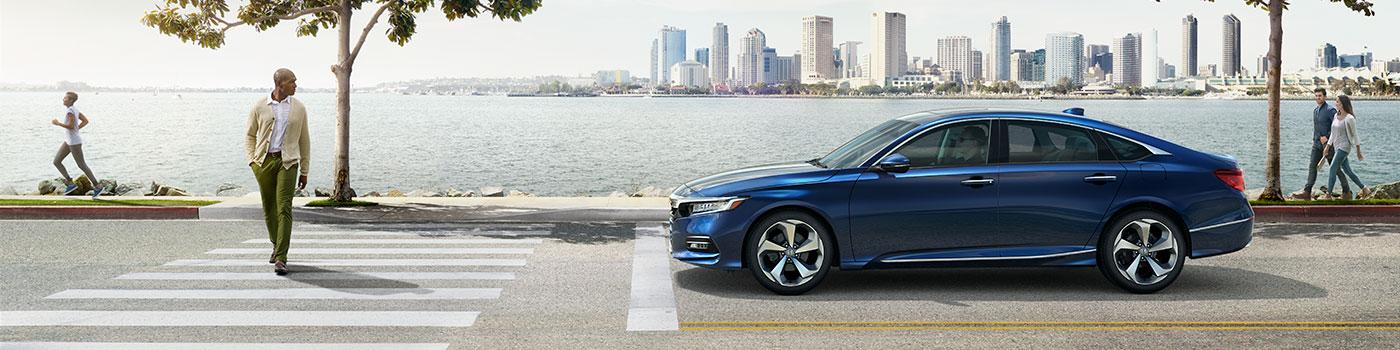 Blue 2019 Honda Accord exterior side view