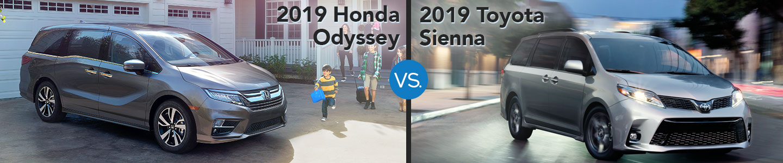 2019 Honda Odyssey vs. 2019 Toyota Sienna in Westerville, OH