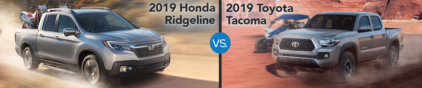 2019 Honda Ridgeline vs. 2019 Toyota Tacoma in Westerville, OH