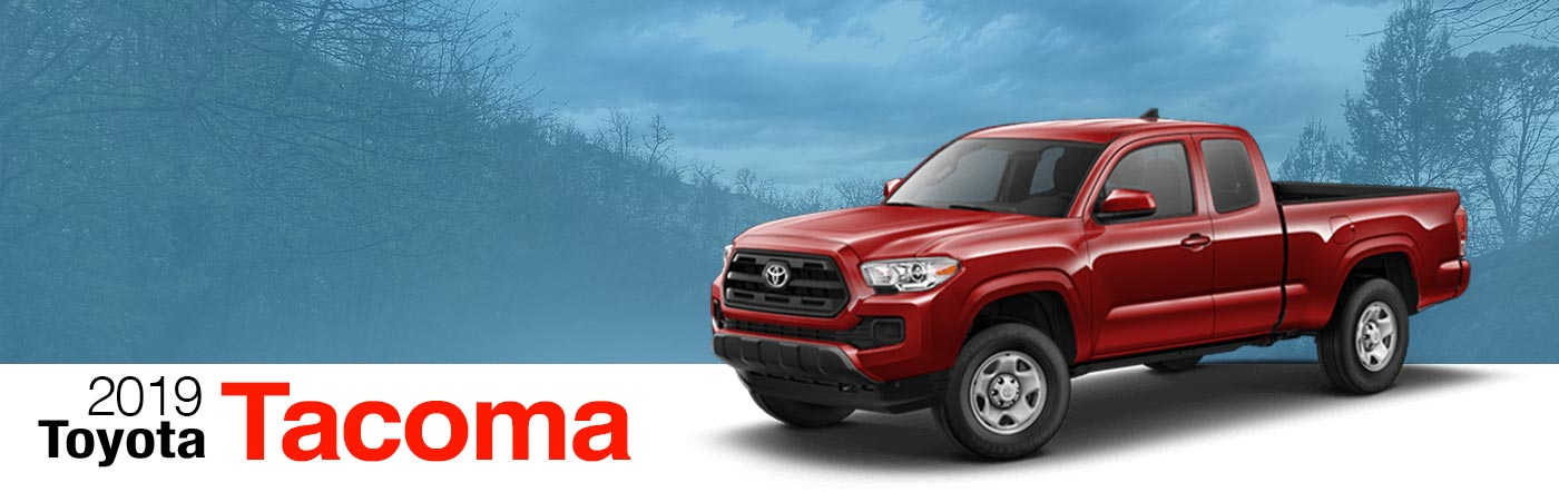 2019 red Exterior tacoma On Road at Fairfield Toyota