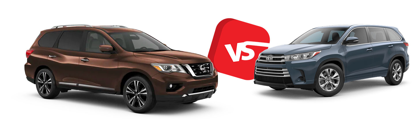 Compare the 2019 Nissan Pathfinder vs. 2019 Toyota Highlander in North Little Rock, AR