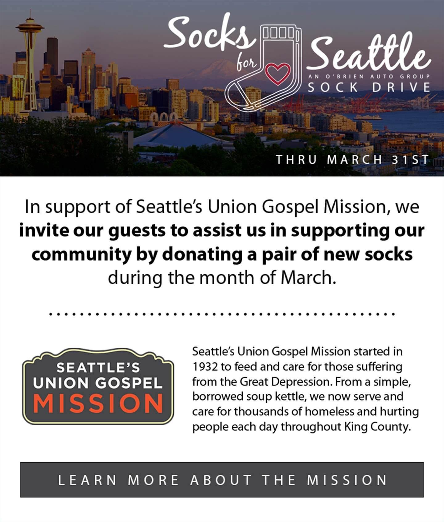Socks for Seattle Sock Drive
