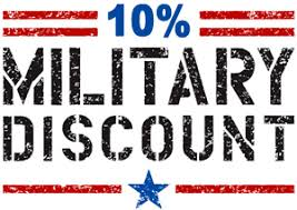 Military Discount: 10% off