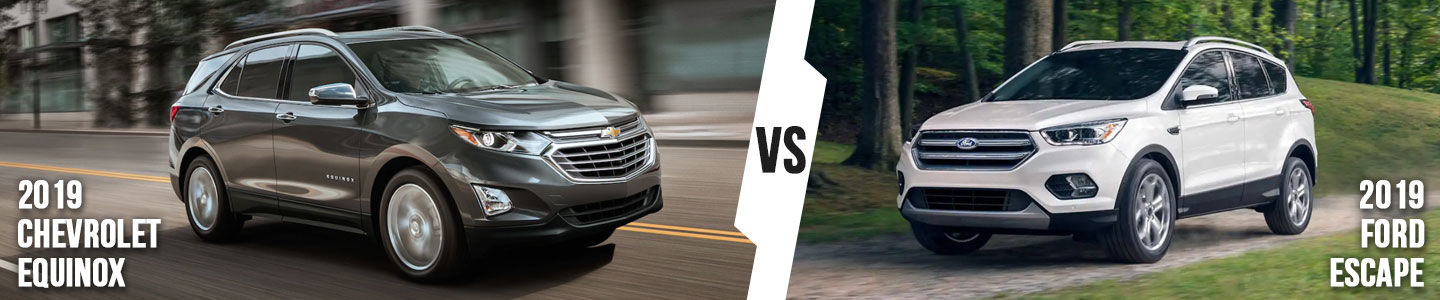 2019 Chevrolet Equinox vs. 2019 Ford Escape in Fort Worth, TX
