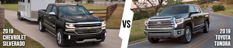 2019 Chevrolet Silverado vs. 2019 Toyota Tundra in Fort Worth, TX