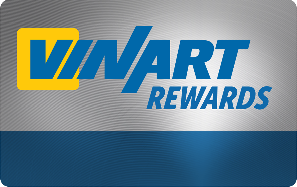 Free Vinart Rewards membership includes discounts on a oil change, tires, brake replacement, and alighment