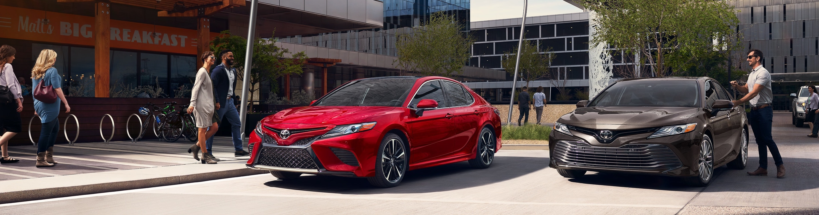 2019 Red Exterior Camry On Road at Toyota of El Cajon