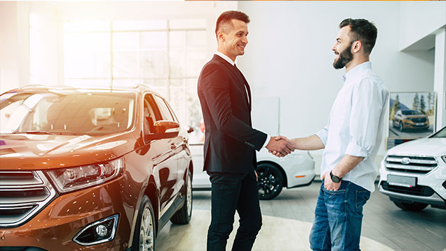 Young man applying for auto loan