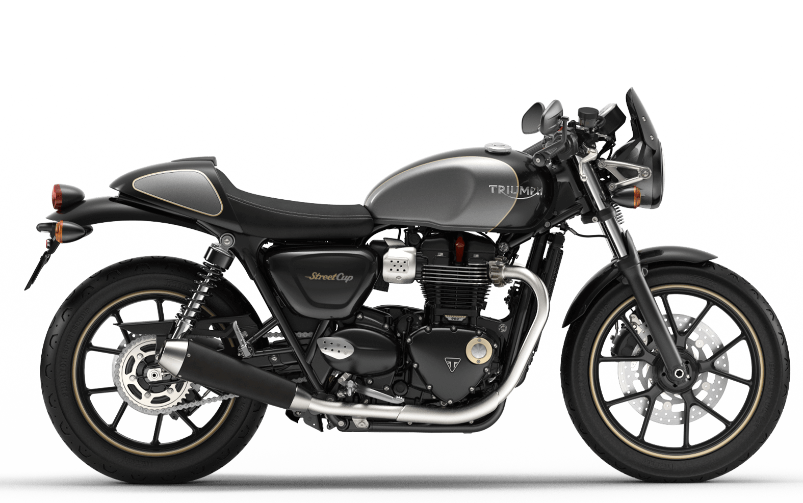 2019 Triumph Street Cup in Jet Black and Silver Ice