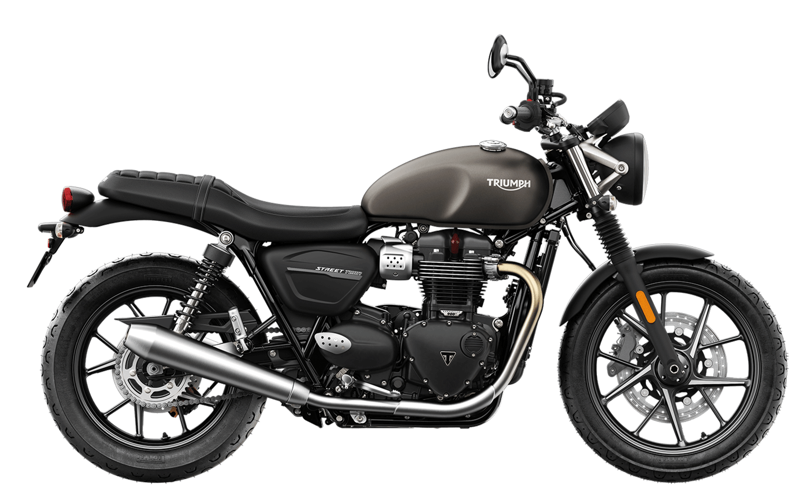 2019 Triumph Street Twin in Matte Ironstone