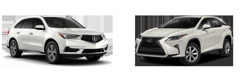 2019 Acura MDX vs 2019 Lexus RX 350