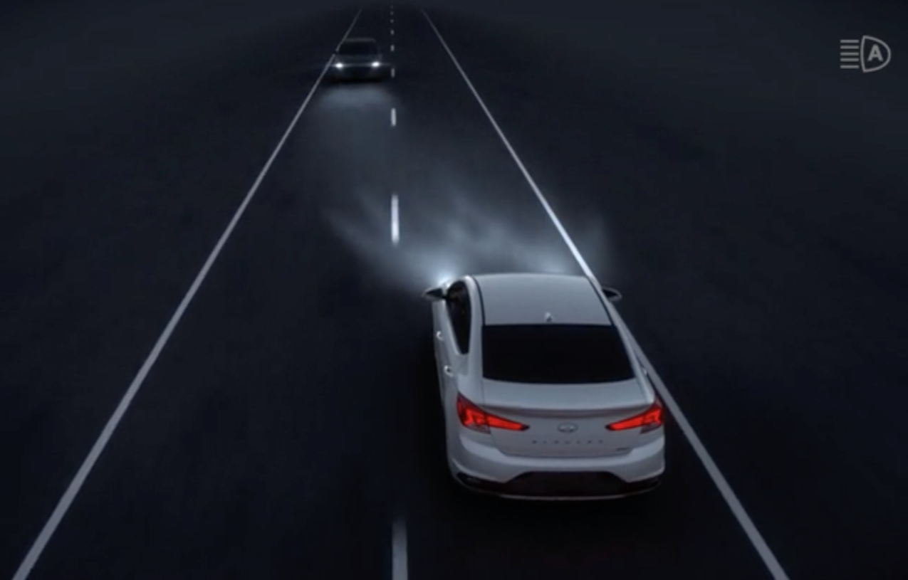 high beam assist visual
