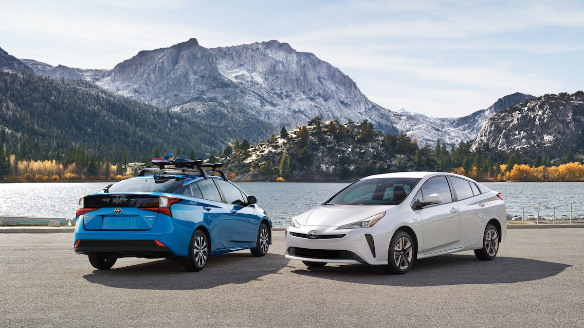New 2019 Toyota Prius hybrid car for sale vs the competition at Ventura Toyota dealership near Oxnard