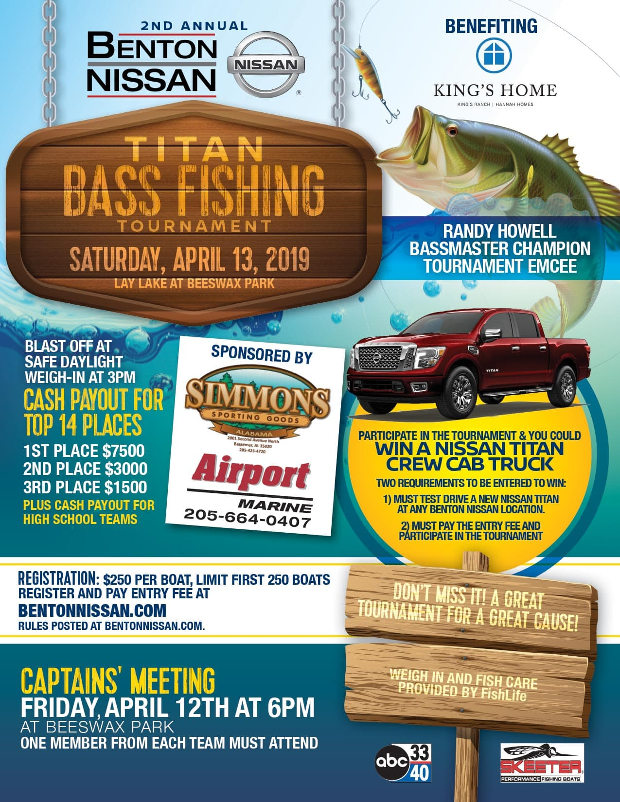 Join Us for the annual Titan Fishing Tournament For Tuscaloosa, AL Residents at Benton Nissan