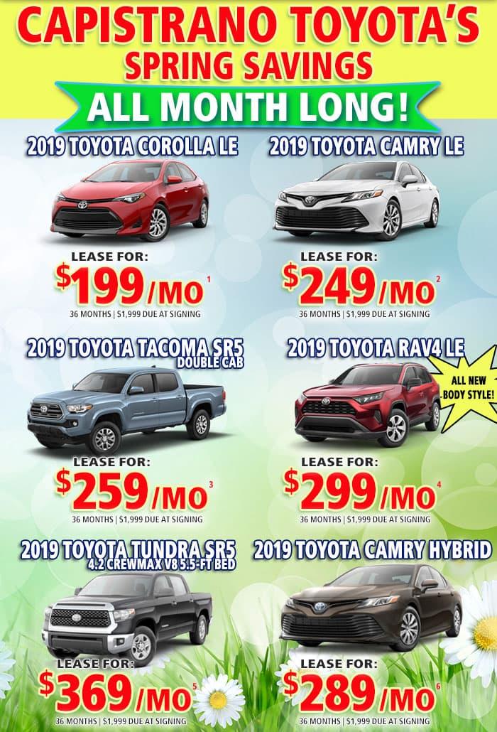 Spring Savings At Capistrano Toyota