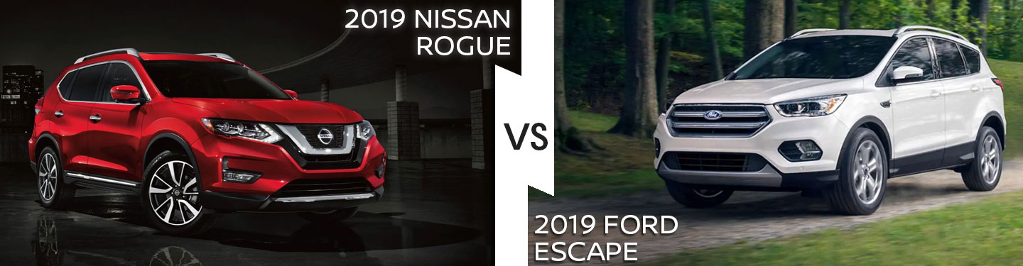 2019 Nissan Rogue Vs. 2019 Ford Escape in Pompano Beach, FL