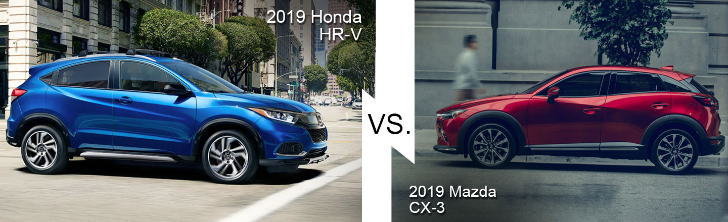 Mazda Cx 3 Vs Honda Hrv >> Compare 2019 Honda Hr V Vs Mazda Cx 3 In Burlington Nj L