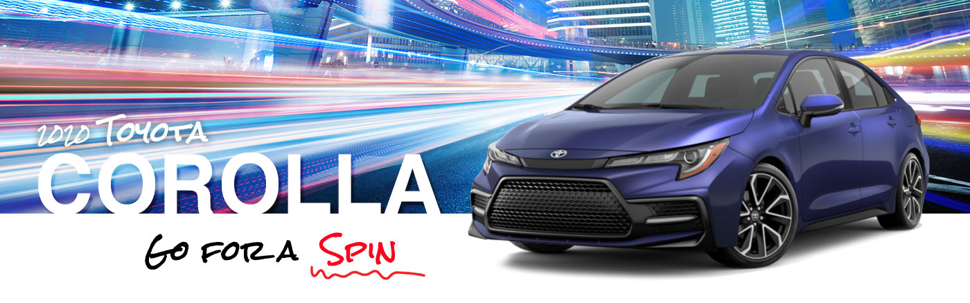 2020 Blue Exterior Corolla On Road at Toyota of Burleson