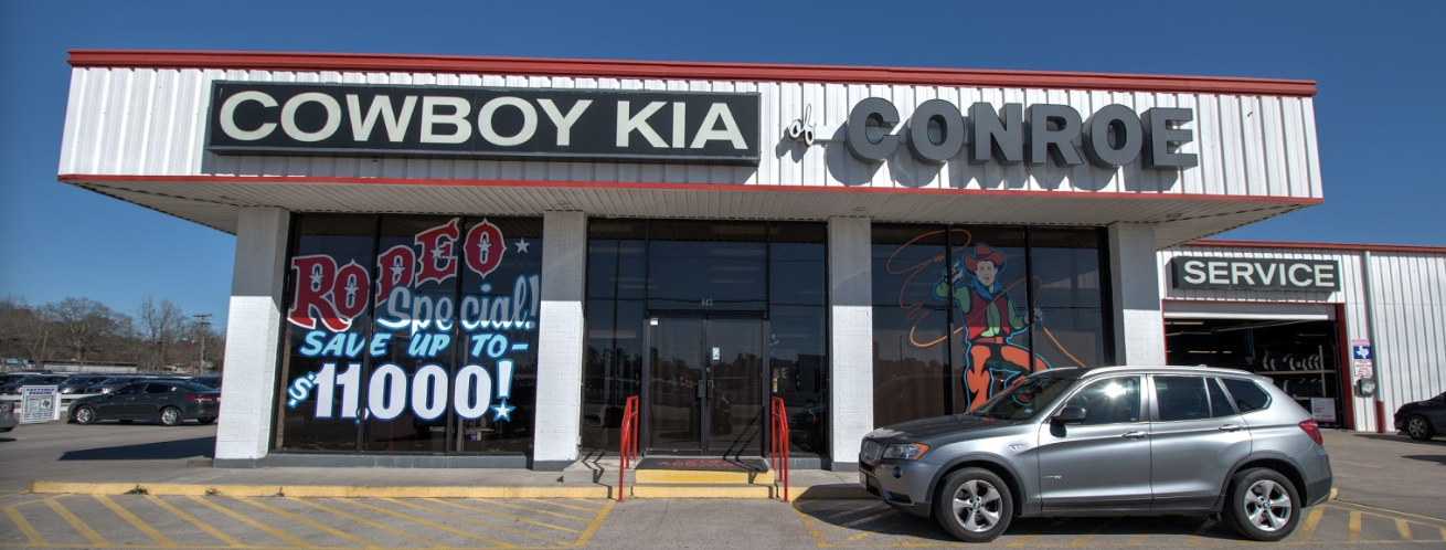 Car Dealerships In Conroe Tx >> About Our Conroe Texas New Used Auto Dealership Cowboy Kia