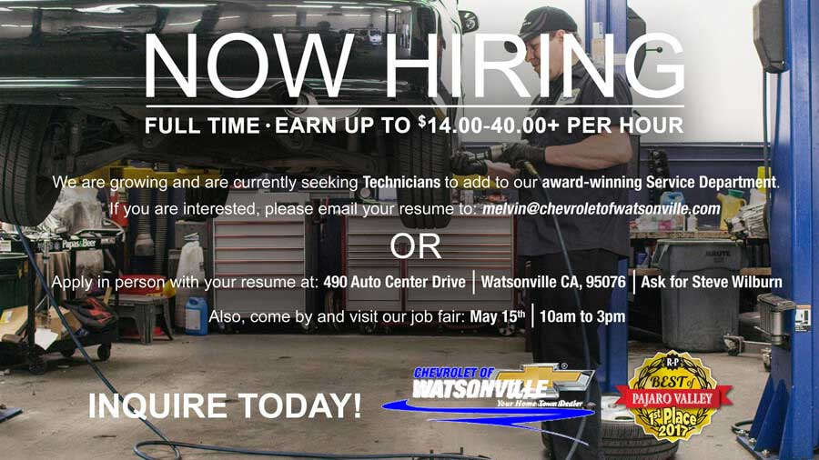 now hiring product specialists