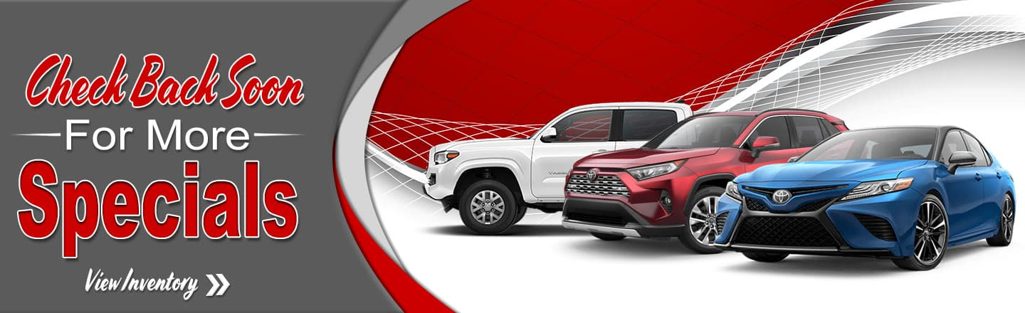 Monthly Specials Serving New Orleans La Drivers Toyota Of Slidell