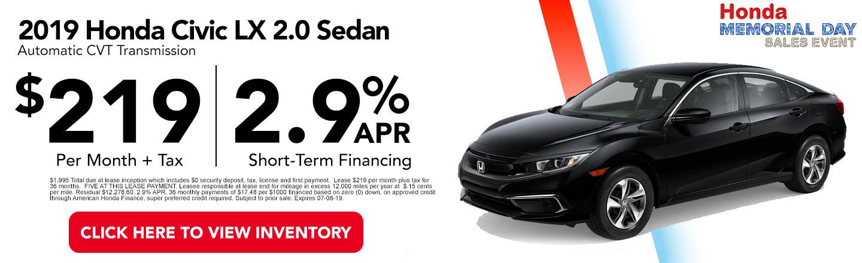 Monthly Honda Specials Lease Financing Car Dealer Near Me