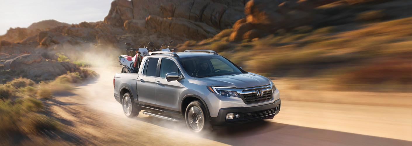 Silver 2019 Honda Ridgeline in desert