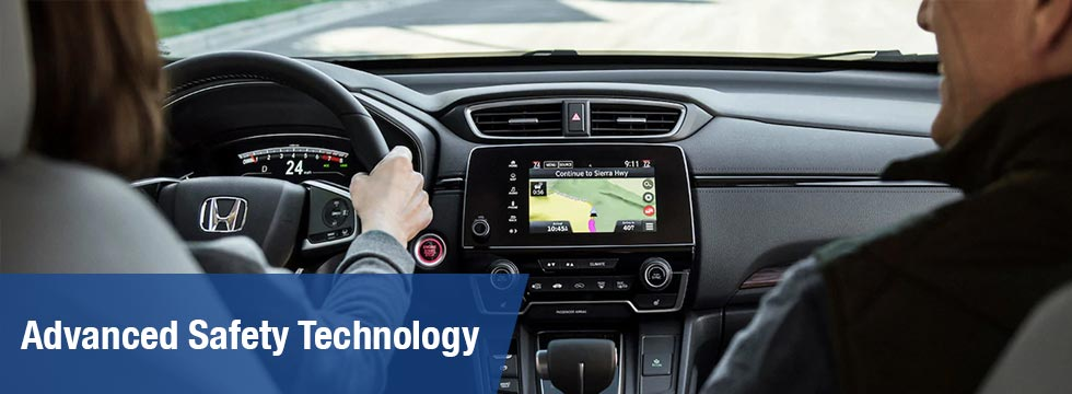 Safety features and interior of the 2019 Honda CR-V available at Honda of Fort Myers near Bonita Springs and Cape Coral FL