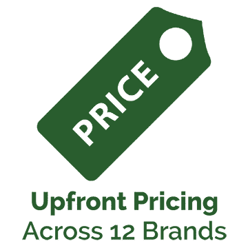 upfront pricing across 12 brands