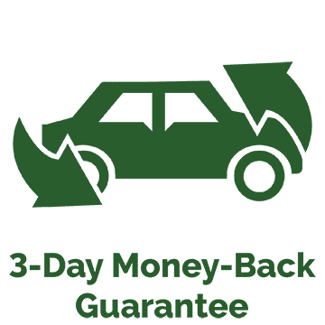 3-day money back guarantee