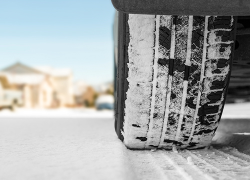 what different tire options are available at Boch New to You in Norwood | car tire on snow