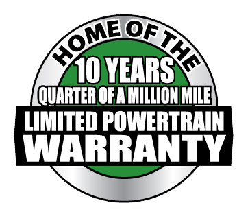 home of the 10 years quarter of a million mile limited powertrain warranty