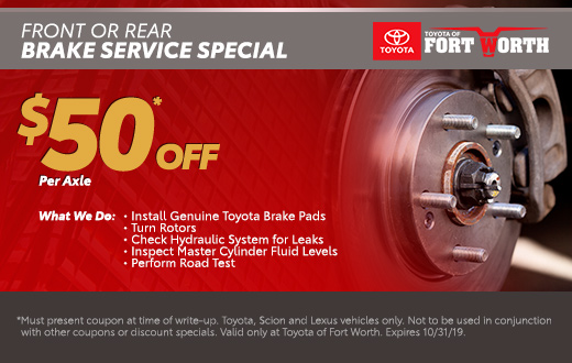 Discover these great Service Specials at Toyota of Fort