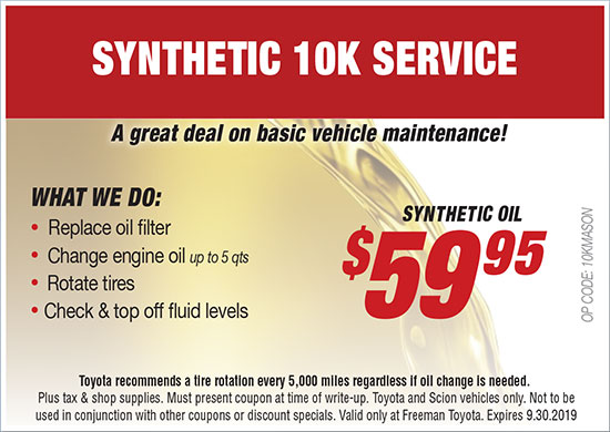 photo relating to Toyota Service Coupons Printable called Support Deals Freeman Toyota