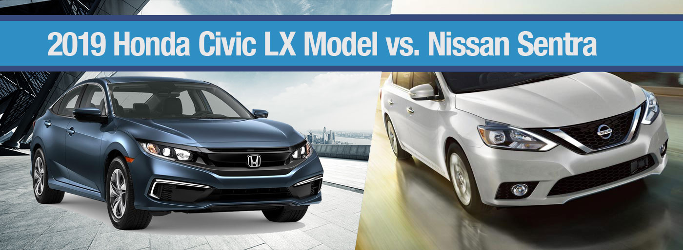 The 2019 Honda Civic Vs The 2010 Nissan Sentra is available at Honda of Fort Myers in Fort Myers, FL