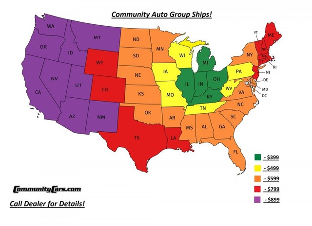 Community Auto Delivery Pricing Map