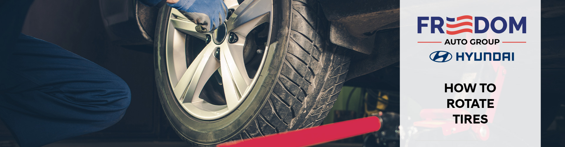 How to rotate your Hyundai tires at Freedom Hyundai in Hamburg