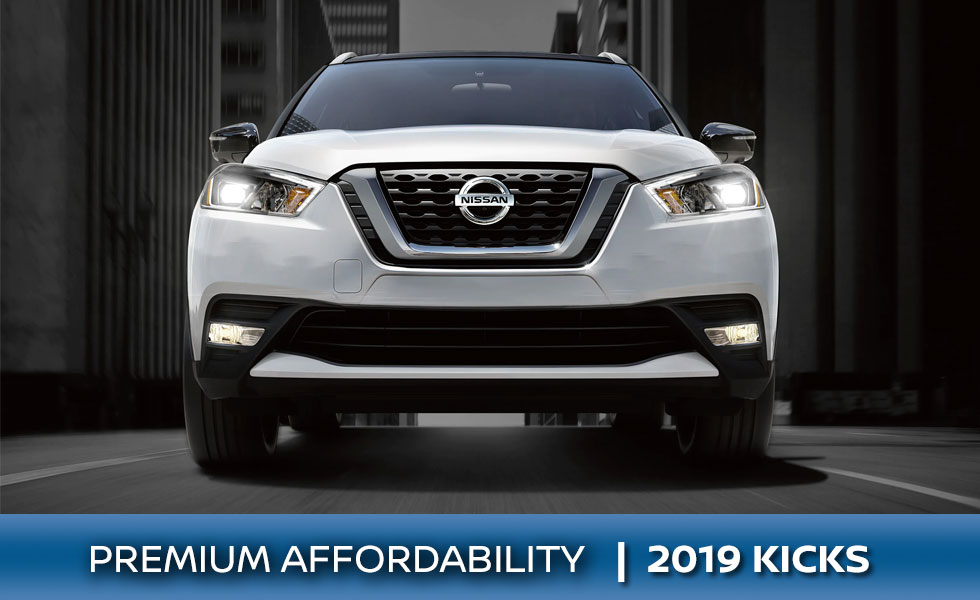The 2019 Nissan Kicks is available at Rountree Moore Nissan in Lake City, FL