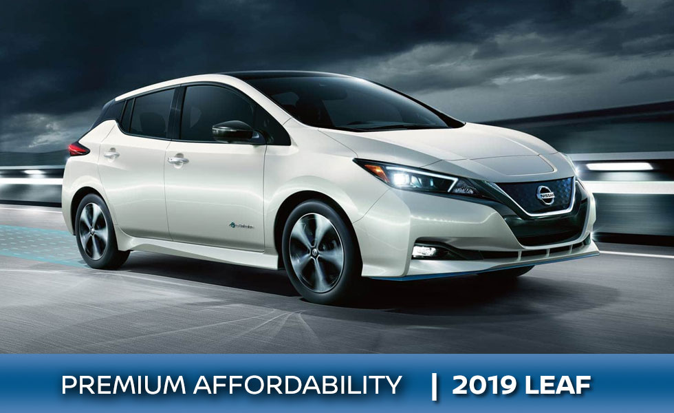 The 2019 Nissan LEAF is available at Rountree Moore Nissan in Lake City, FL