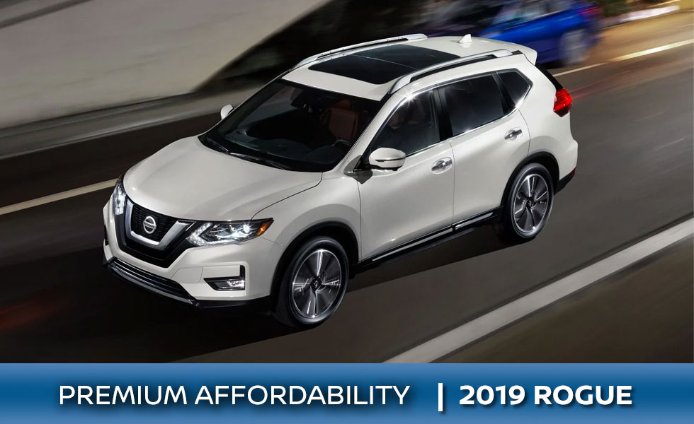 The 2019 Nissan Rogue is available at Rountree Moore Nissan in Lake City, FL