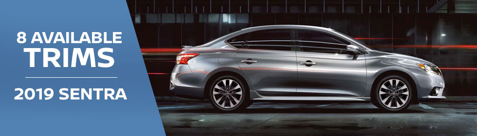 Exterior of the 2019 Nissan Sentra at Rountree Moore Nissan near Jacksonville, FL