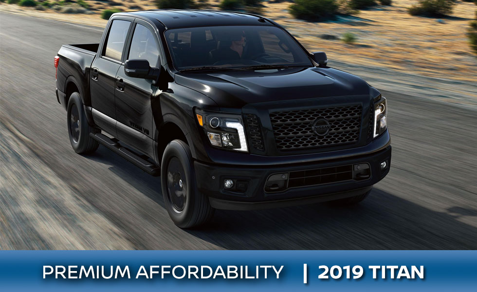 The 2019 Nissan Titan is available at Rountree Moore Nissan in Lake City, FL